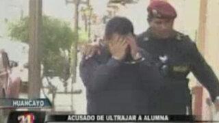 Huancayo: profesor acusado de ultrajar a su alumna fue detenido por la Policía