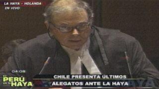 Chile inició sus últimos alegatos orales con la intervención de James Crawford