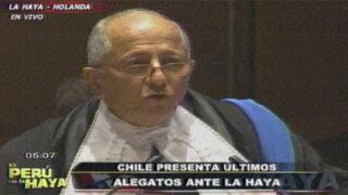 Chile: no estamos de acuerdo con lo que nos pretende hacer decir Perú