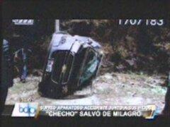 El 'Checho' Ibarra se salvó de morir en carretera a Matucana