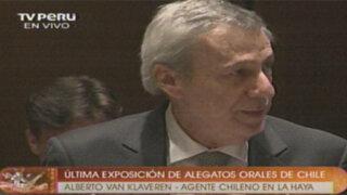 Comentarios finales de Alberto Van Klaveren, embajador chileno ante La Haya