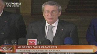 Chile: Nuestra posición ha sido invariable, consistente y de buena fe