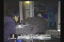 Operan a Susana Higuchi de emergencia tras fracturarse cadera y clavícula