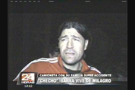"""""""Checho"""" Ibarra y su familia se salvan de milagro tras sufrir accidente"""