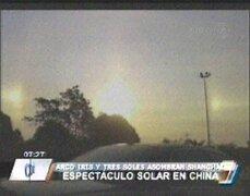China: un arcoíris invertido y tres soles alarman a población de Shanghái