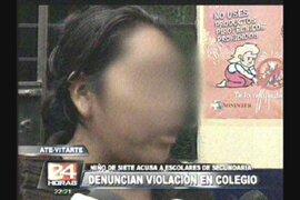 Niño de tan solo siete años acusa a escolares de secundaria de violación