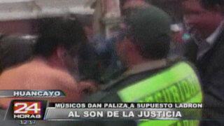Huancayo: ladrón salva de ser linchado por músicos de la calle