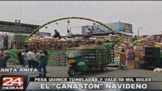 Mercado de Santa Anita sorteará canastón de 15 toneladas