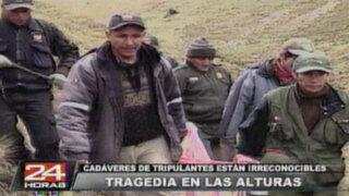 Equipo periodístico llegó al lugar donde impactó el avión Antonov