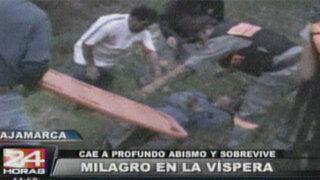 Cajamarca: un hombre salvó de morir tras caer a un profundo abismo
