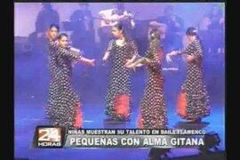 Niñas muestran su talento en baile flamenco