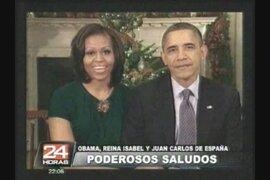 Obama, Reina Isabel y Juan Carlos de España Envían saludos navideños