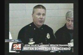 EE.UU: matan a bomberos que querían apagar incendio