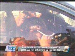 Hermana de Maribel Velarde fue a la Dirandro a explicar compra de camioneta