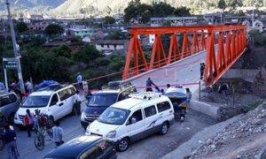 Cusco: se colocará un nuevo puente en Urubamba