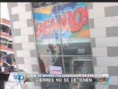 Municipalidad de San Miguel clausuró local de Bembos