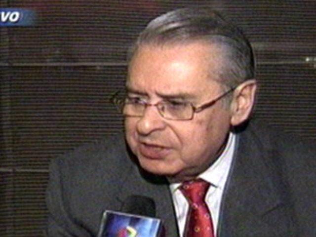 Embajador Allan Wagner Tizón descartó volver a dirigir la Cancillería