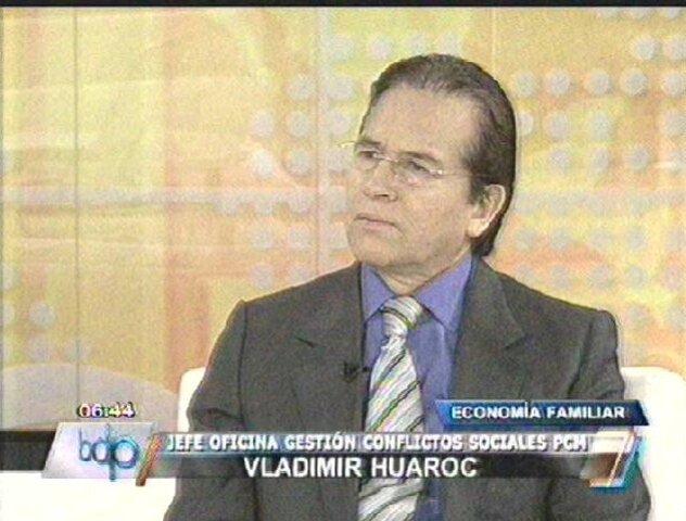 Vladimir Huaroc: Necesitamos estabilidad social para una mejor inversión