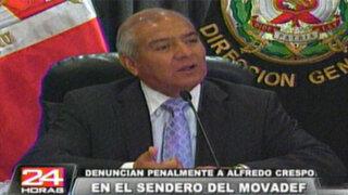 Ministro Pedraza: Quien es líder de Movadef es sin duda militante de Sendero