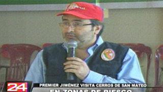 Se tomarán acciones inmediatas para evitar desastres en cerro Pucruchacra