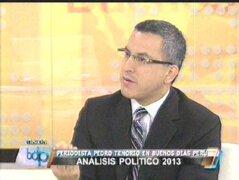 Pedro Tenorio: Primera dama debe ser más enfática al decir que no postulará el 2016