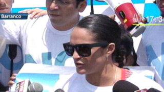 Kina Malpartida dice 'No' a revocatoria en recorrido por playas de Barranco