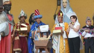 Alcaldesa reconoció a Policía Montada en 'Bajada de Reyes'