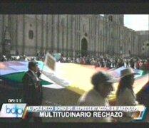 Arequipa: cientos de personas protestaron contra el bono de representación