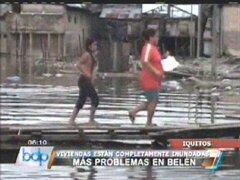Iquitos: desborde de río Itaya dejó cientos de viviendas inundadas