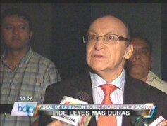 Fiscal Peláez pide sanciones más drásticas para delincuentes juveniles