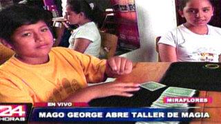 El increíble 'Mago George' inicia talleres para jóvenes aficionados a la magia