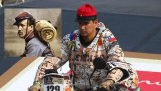 Un piloto chileno usó quepí de la Guerra del Pacífico en el Rally Dakar