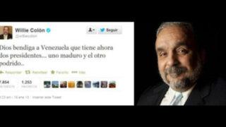 Chavistas furiosos por publicación de Willie Colón en Twitter