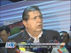 Alan García: El APRA no conspiró para vacar a Alejandro Toledo