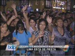 Ciudad de Lima celebró sus 478 años de fundación española