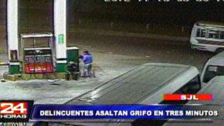 Delincuentes robaron más de dos mil soles a grifo de San Juan de Lurigancho