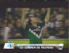 Werder Bremen quiere fichar a Claudio Pizarro para la próxima temporada