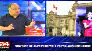 Nuevo Código Electoral permitiría postulación presidencial de Nadine Heredia