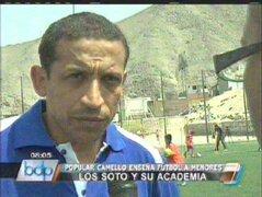 Hermanos José y Jorge Soto abrieron su academia de fútbol para este verano