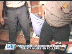 Lince: turista norteamericano murió al atragantarse en una pollería