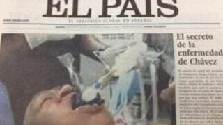 """Diario """"El País"""" se disculpa por fotografía falsa de Hugo Chávez"""