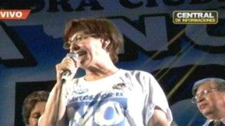 Comas: Susana Villarán participa en mitin contra la revocatoria