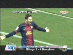 Barcelona derrotó 4 a 2 al Málaga y pasó a las semifinales de la Copa del Rey