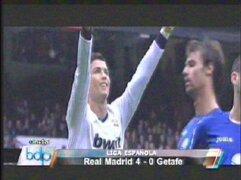 Real Madrid goleó al Getafe por 4 a 0 y se acerca al Barcelona