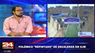 Álvaro Espinoza: Los pobladores son los que eligen el color de sus escaleras