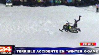 EEUU: peligrosa maniobra en 'Winter X-Games' causa terrible accidente