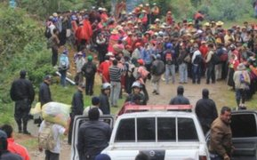 Chiclayo: antimineros bloquean carreteras y acceso a Cañaris