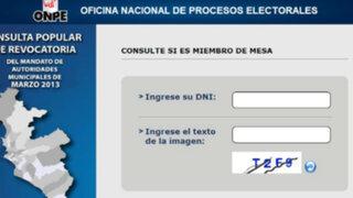 ONPE: usuarios saturaron web para conocer sorteo de miembros de mesa