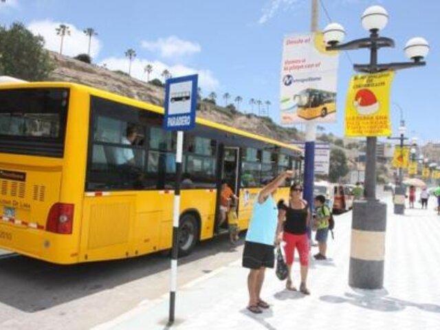 Servicio de El Metropolitano a las playas de la Costa Verde se reanuda