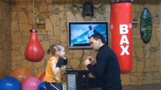 Kazajistán: pequeña y veloz boxeadora es la nueva sensación en YouTube